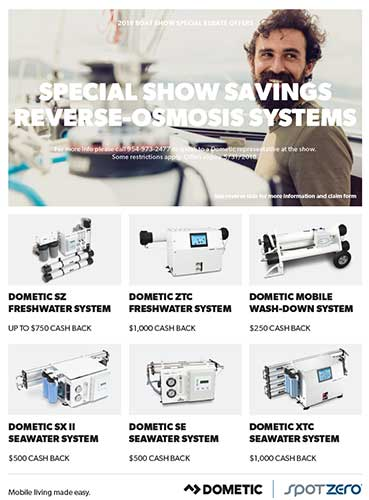 Dometic Boat Show Season Rebates